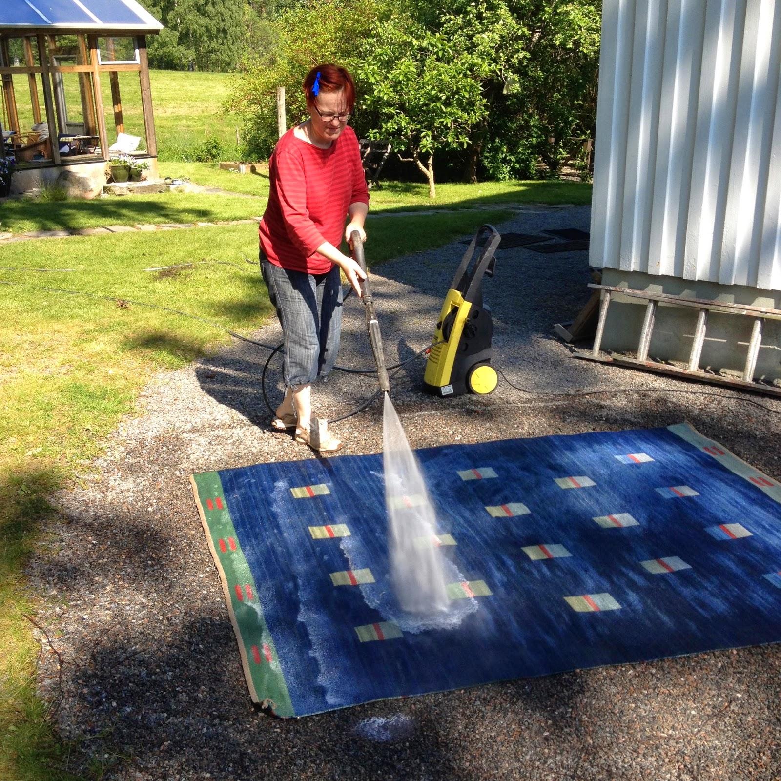 Tvätta matta högtryckstvätt