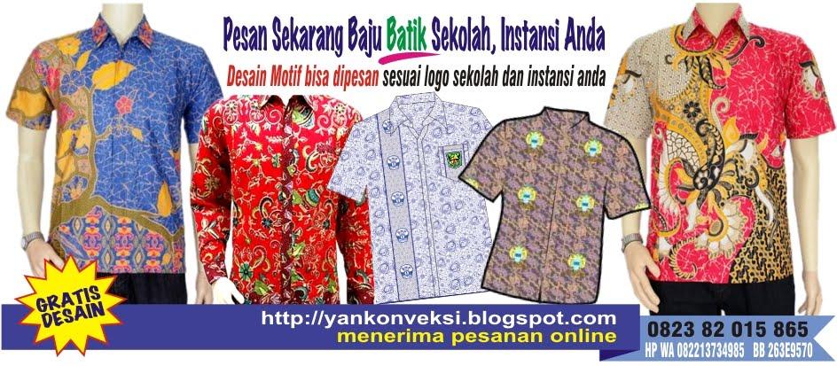 PESAN BAJU BATIK SEKOLAH, ISTANSI ANDA DI SINI MELAYANI PEMESANAN SELURUH INDONESIA
