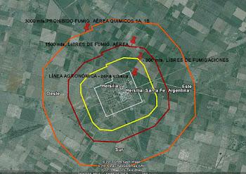 800 metros libres de fumigaciones en Hersilia