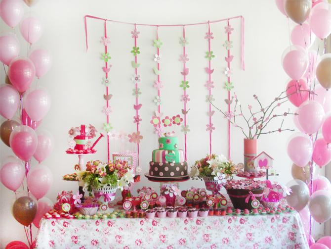 decoracao alternativa para festa infantil : decoracao alternativa para festa infantil:Decoração de Flores e Pássaros para Meninas – por Hipi Hurra!