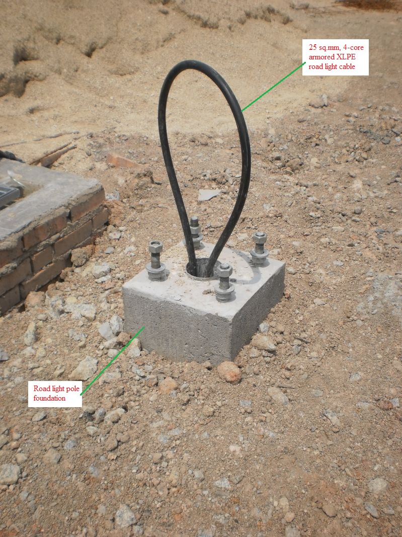Light Poles Drawing Lighting Pole Foundation