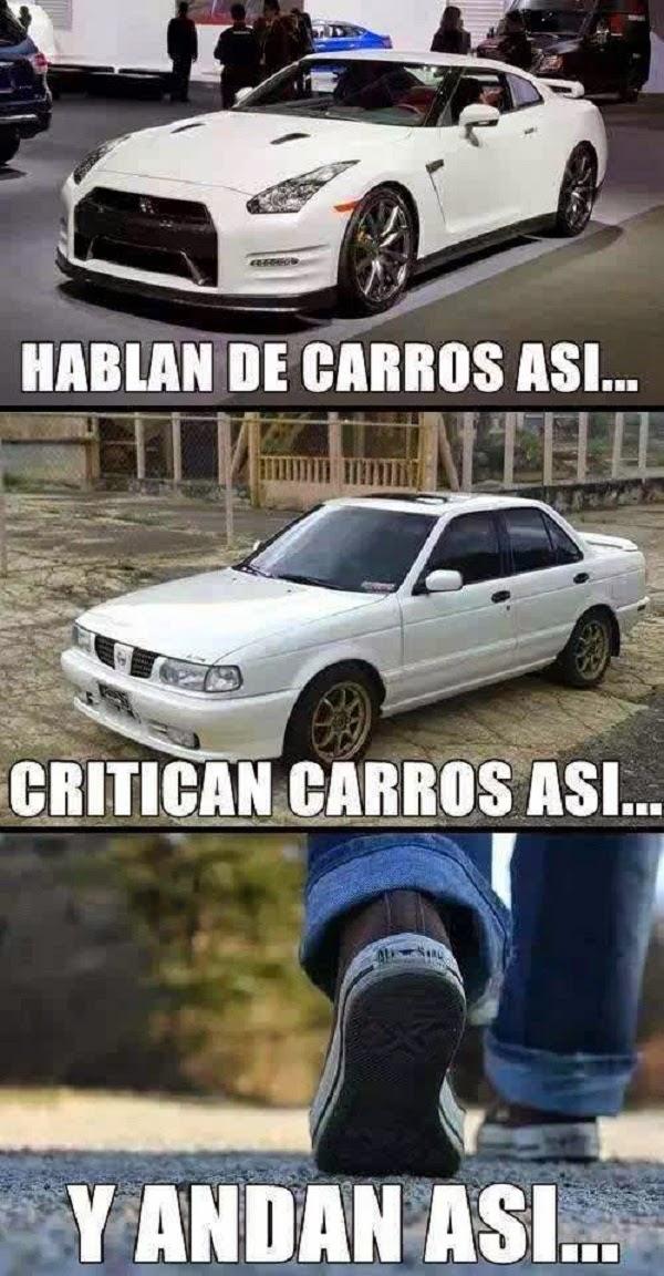 Hablan de carros así