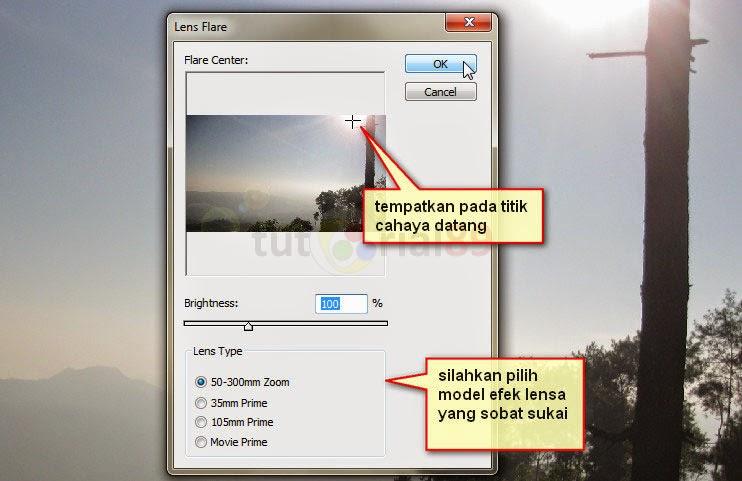 Cara cepat membuat efek cahaya lensa dengan photoshop