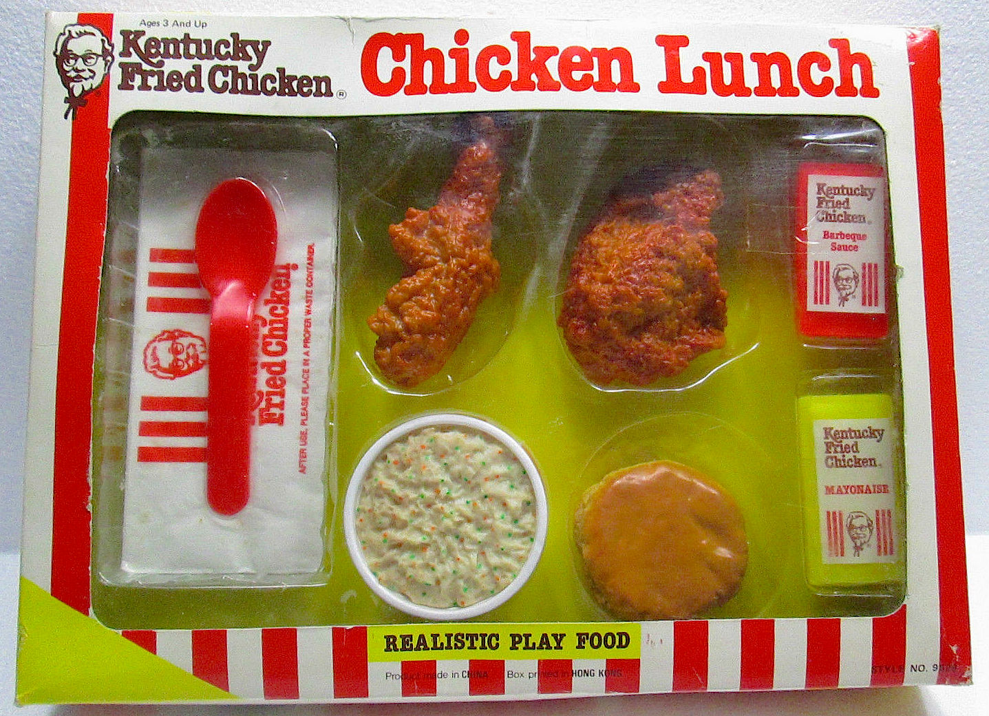 Kfc Toy Food : Kentucky fried chicken play set toys kfc plastic fun
