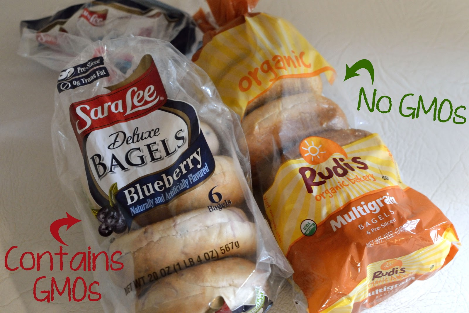 Non-GMO alternative : Rudi's Multigrain Bagels (labeled USDA Organic ...
