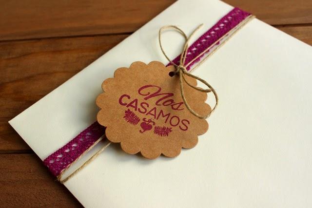 sobres craft invitaciones de boda sello hermanas bolena