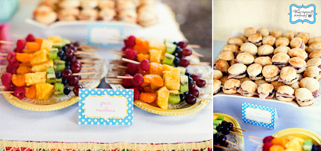 Bright as the sun 1st birthday party food via Kara's Party Ideas KarasPartyIdeas.com