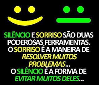 Silêncio e sorriso
