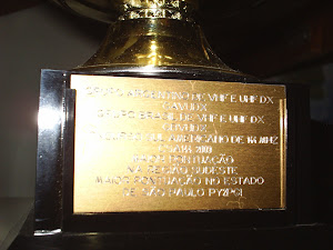 PLACA DO TROFÉU 1 LUGAR CSA 2009