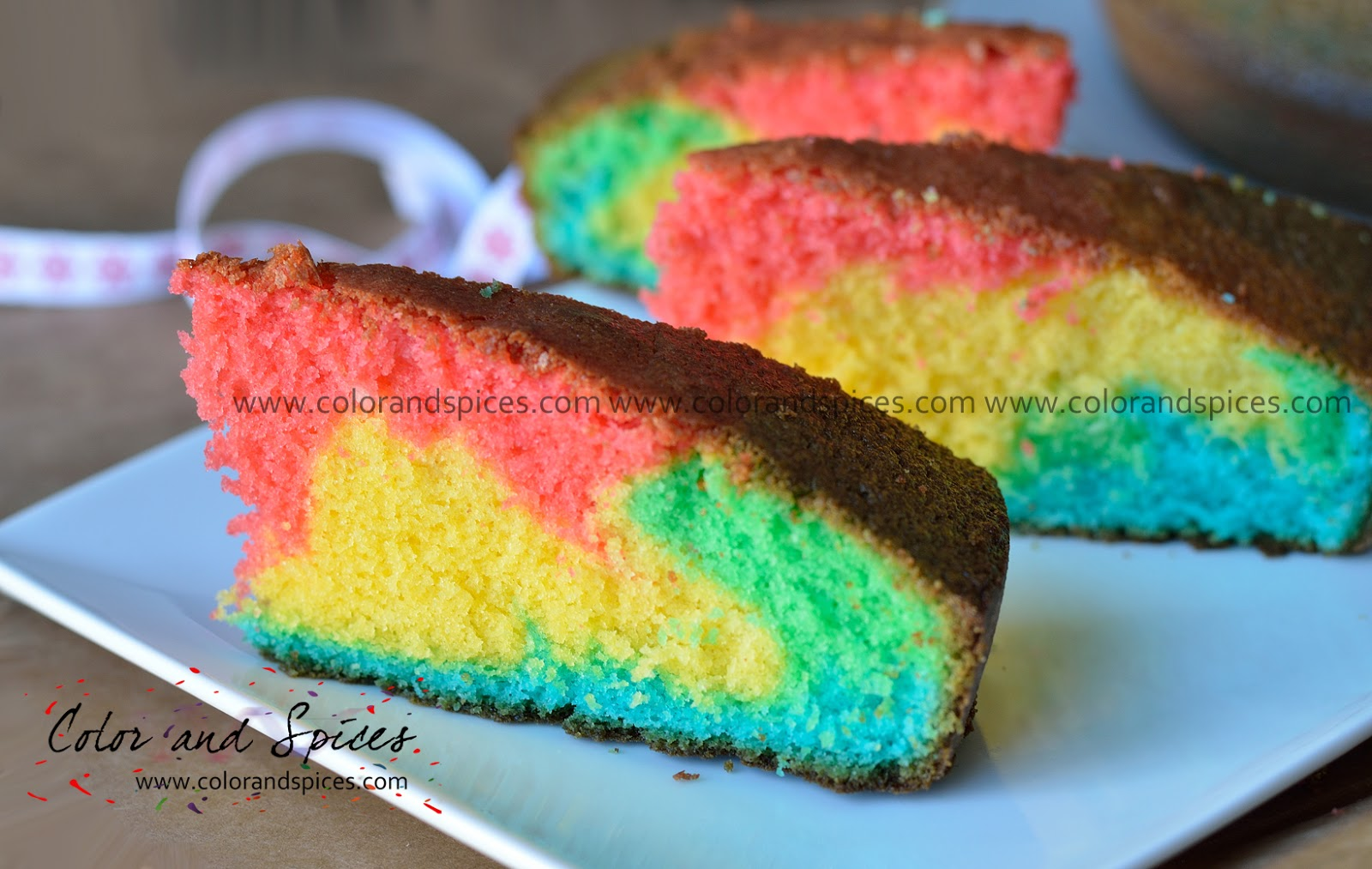 Color And Spices Rainbow Cake