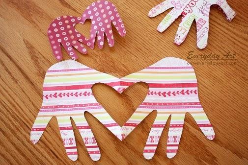 Everyday Art Valentines Card Handprint Heart