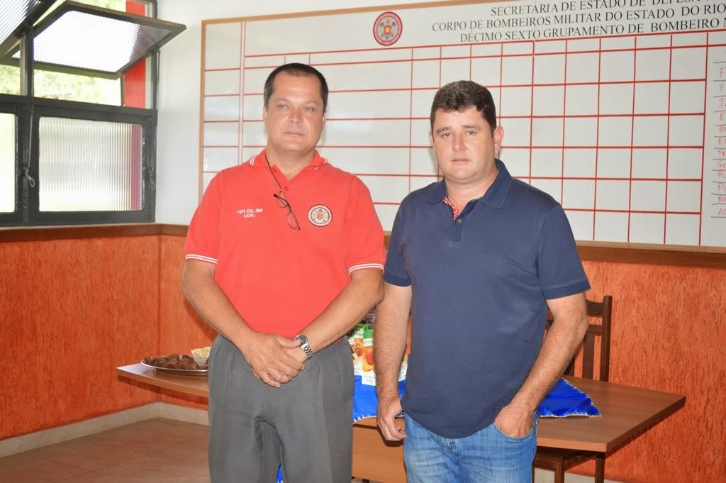 Prefeito Arlei com o tenente-coronel Leal: trabalho em parceria no atendimento à população