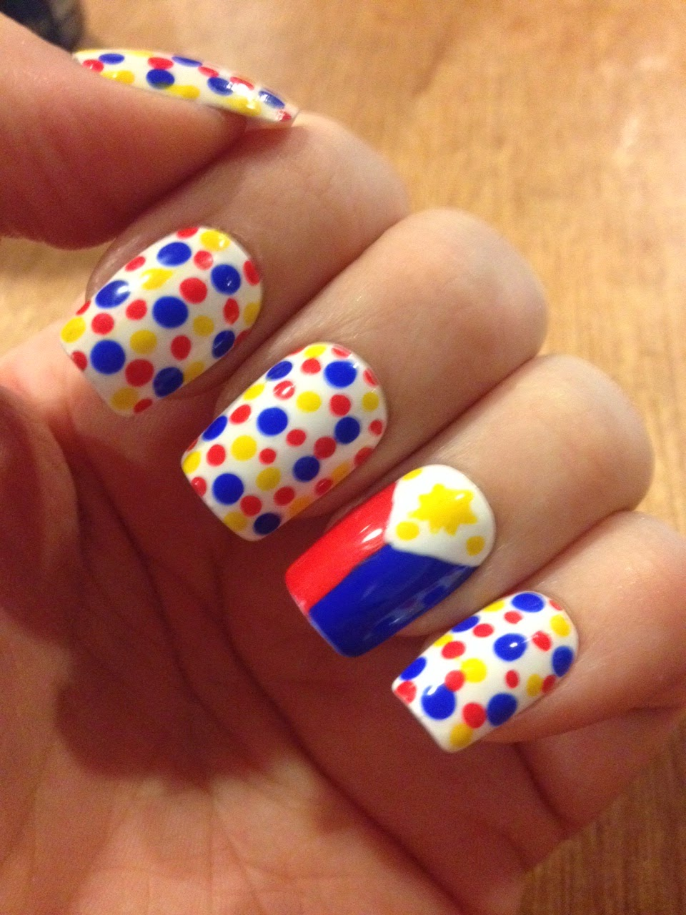 Philippine Flag Nails