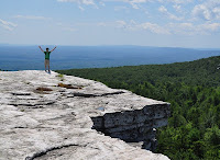 Hiker on Minnewaska Ridge