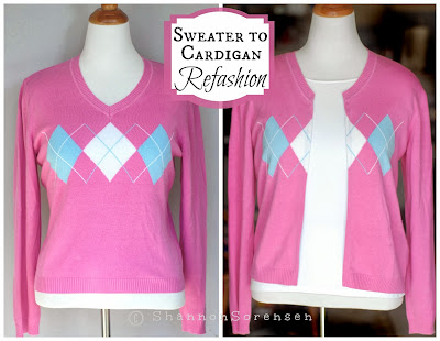 How to turn a sweater into a cardigan