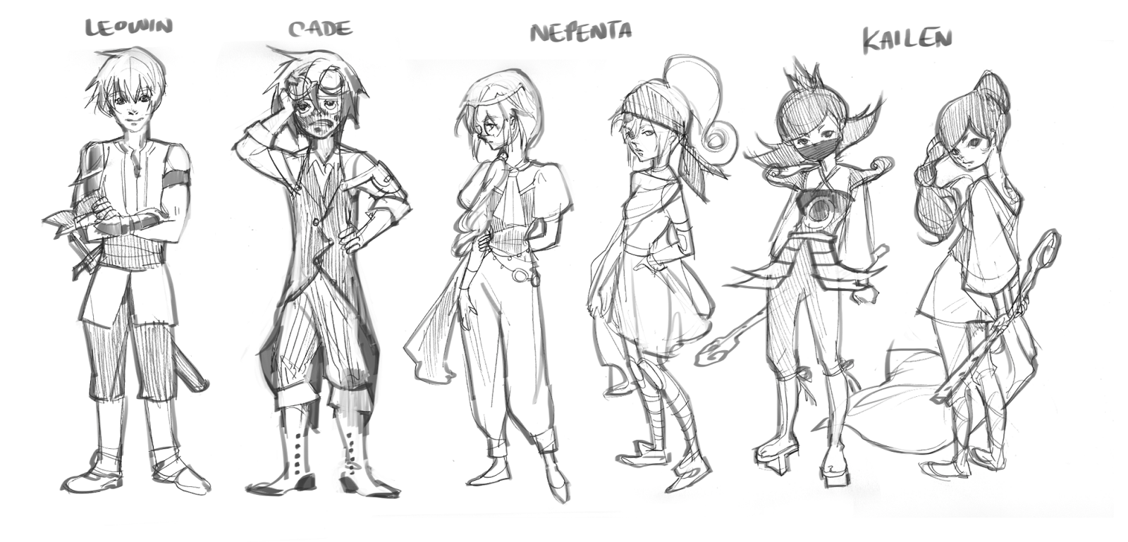 insight into the ideas you had for the character here are the 4 main characters for - Game Design Ideas