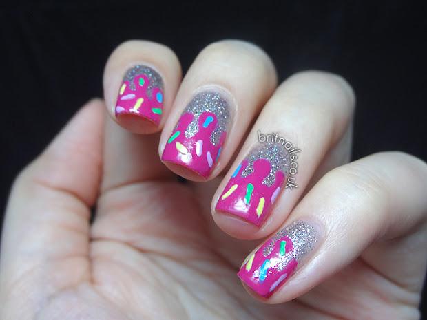 ice cream drips brit nails