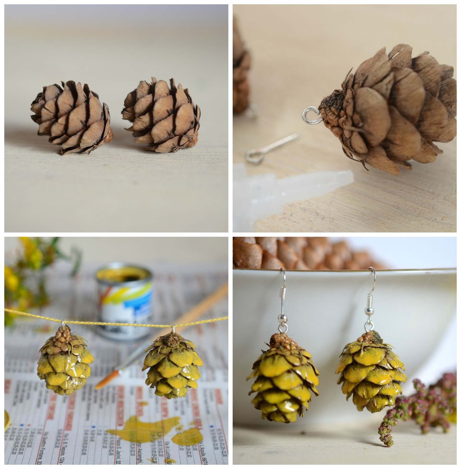 Diy: eco-earrings