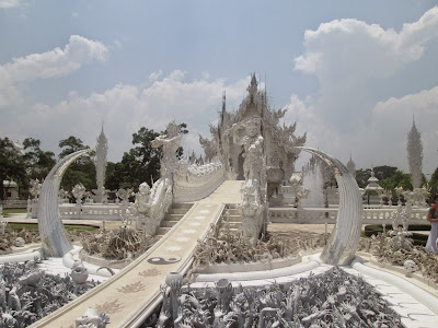 Wat Rong Khun, or, the White Temple, in Chiang Rai.