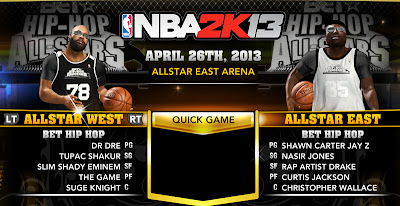 NBA 2K13 BET Hip Hop All-Stars Mod