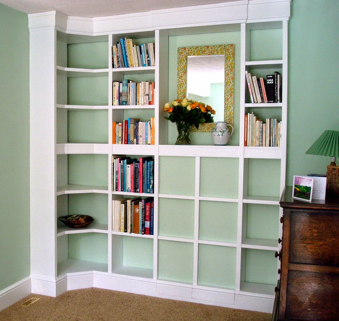 Drawing room corner unit with concealed cupboard-under-the-stairs