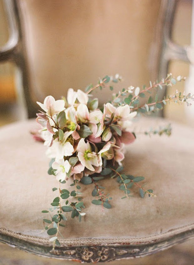Toasted almond wedding bouquet