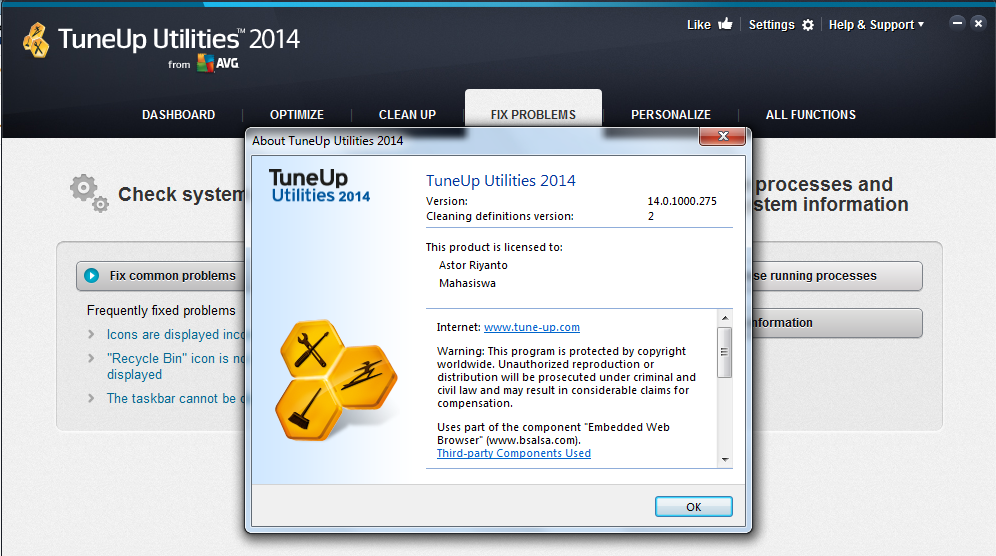 Tuneup Utilities 2014 14.0.1000.275 with patch Final