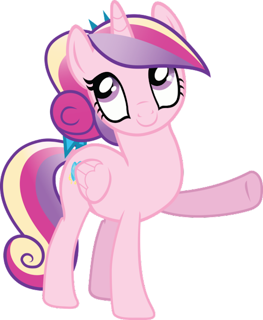 Cadance and Shining Armor Foal is Flurry Heart