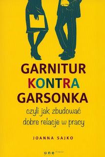 """""""Garnitur kontra garsonka, czyli jak zbudować dobre relacje w pracy"""" - Joanna Sajko"""