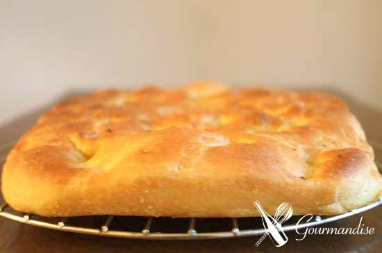 Gourmandise: Focaccia com bacon e blue cheese