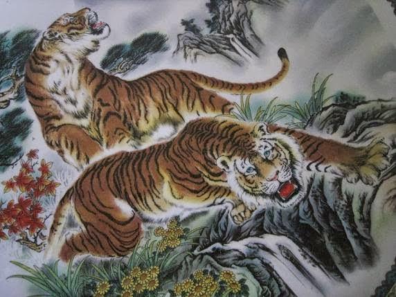 Gambar Batik Tulis Motif Macan Atau Harimau