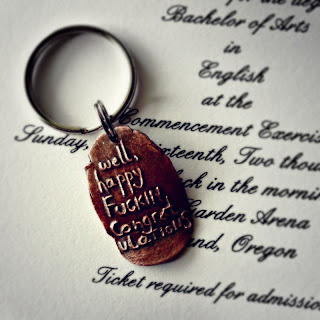 happy fuckin congratulations keychain graduation gift