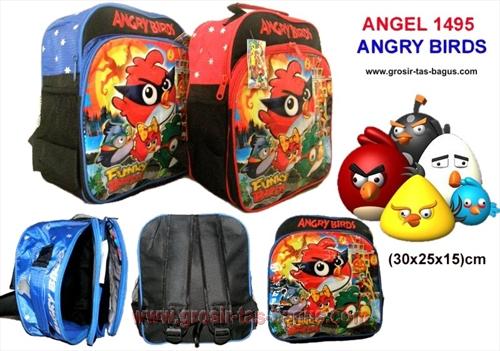 Tas Ransel Anak Sekolah Cowok Angel 1495 Angry Bird Murah dan Bagus