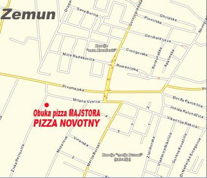 Lokacija Pizza Novotny