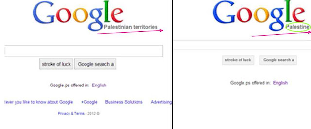 Did Google granted 'virtual' de-jure / de-facto recognition to Palestine; Why Israel is shocked!?