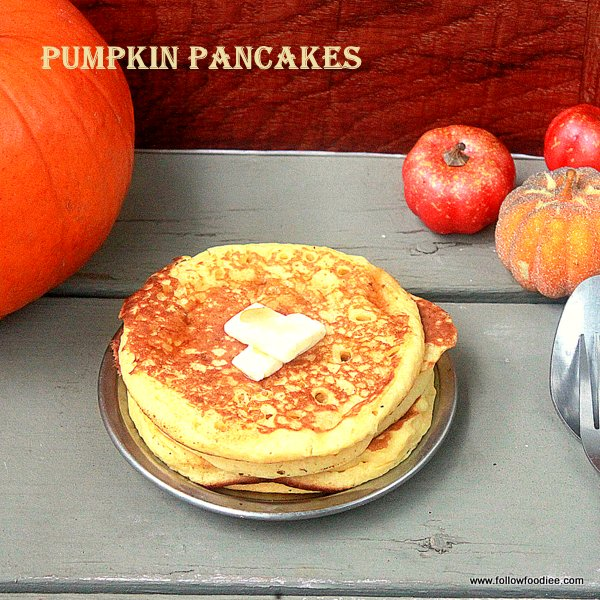 Easy pancakes using pumpkin puree . Easy Breakfast ideas
