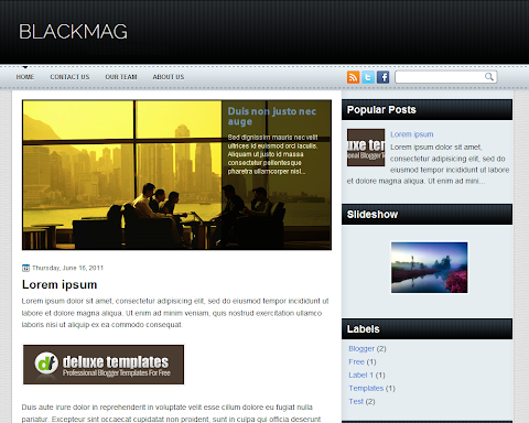 Black Mag Blogger Theme