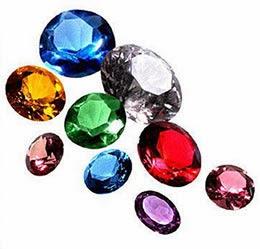 Bodas de casamento com pedras preciosas