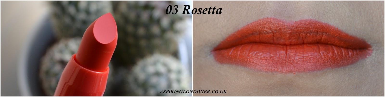 Kiko Cosmetics Frosted Look Lipstick 03 Rosetta Swatch - Aspiring Londoner