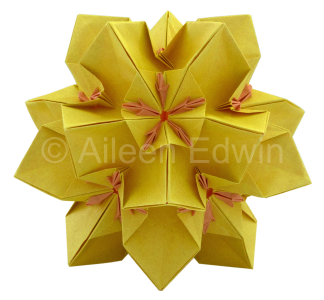 Origami Kusudama (dual-coloured version)