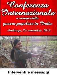 Gli atti della Conferenza Internazionale di sostegno alla guerra popolare in India