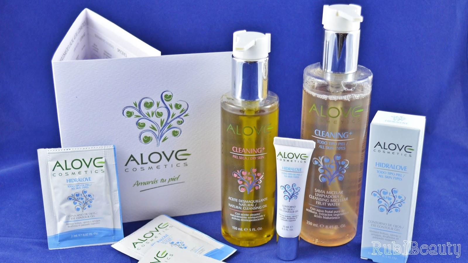rubibeauty review beautyfever 2015 productos haul muestras alove cosmetics aceite savia micelar contorno ojos