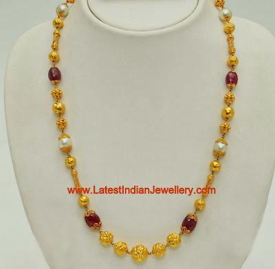 Nagas Work Gold Chain