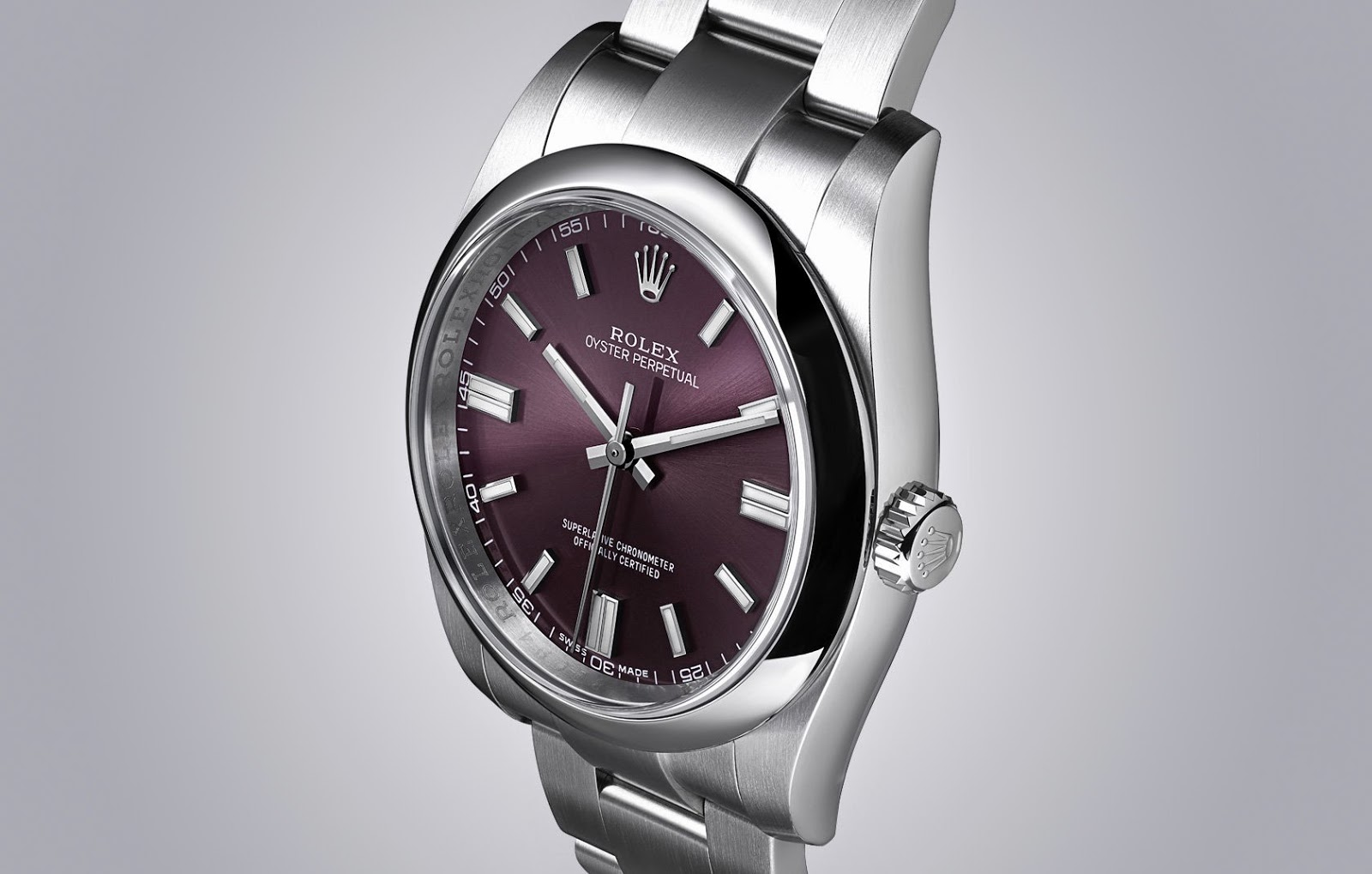 ROLEX OYSTER PERPETUAL RED GRAPE