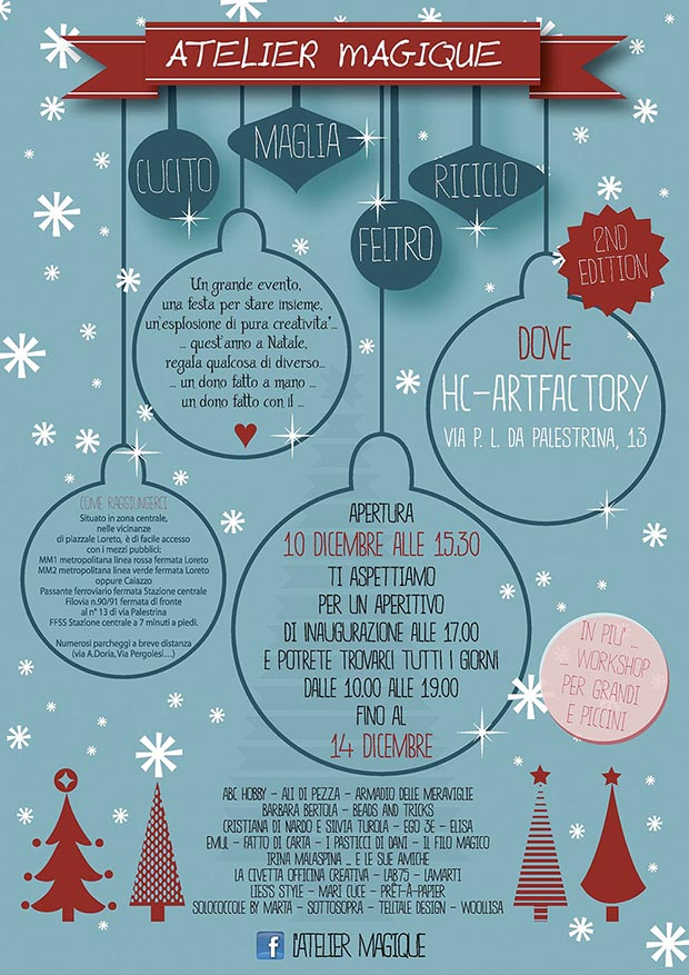 Atelier Magique - Milano 13 e 14 dicembre 2014