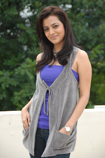 Kajal Agarwal's Sister Nisha Agarwal Cute In Blue Dress Pictures