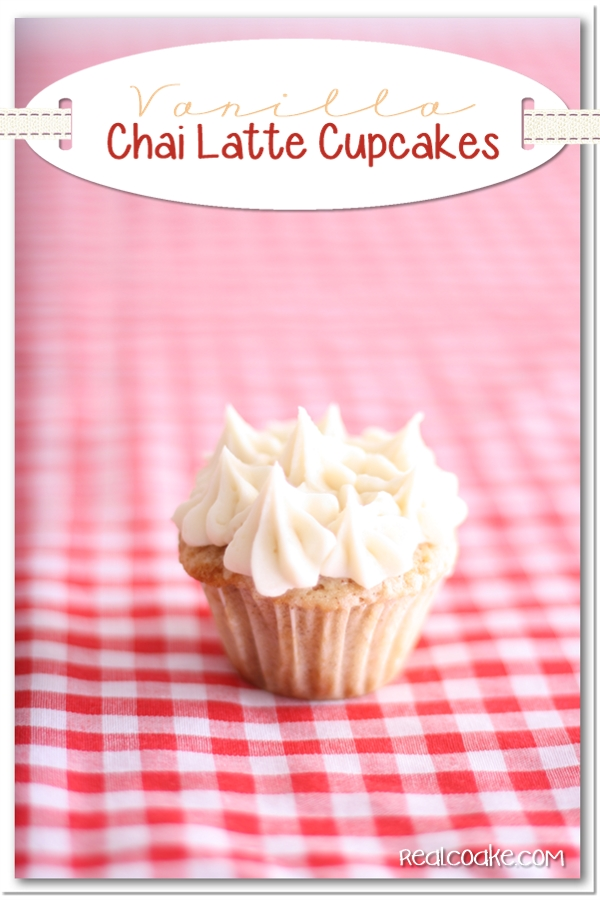 ... have a fun cucpake recipe for Vanilla Chai Latte Cupcakes for you
