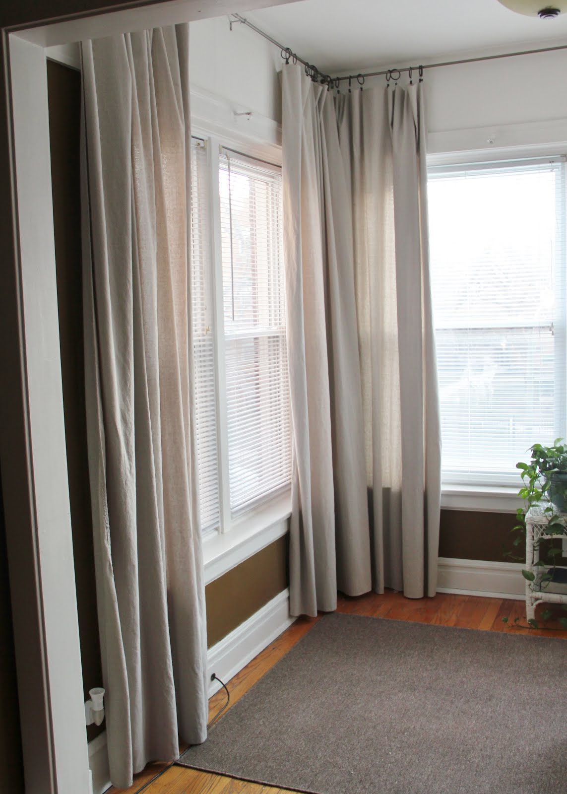 Mr and mrs pear drop cloth curtains