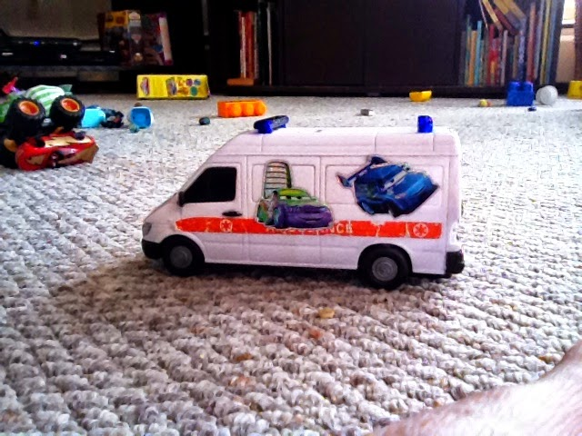Toy ambulance coming to the rescue