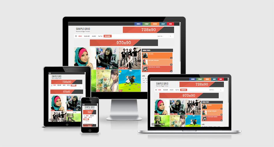 Simple Grid V2 - Template Blogspot Responsive cho trang chia sẻ hình ảnh